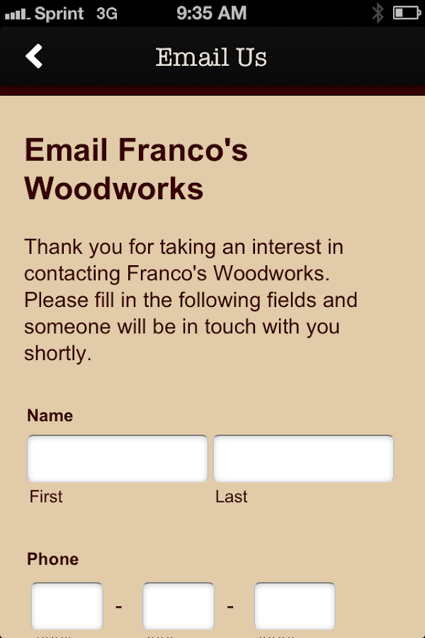 Francos Wood Work- screenshot
