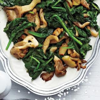 Sautéed Spinach and Mushrooms