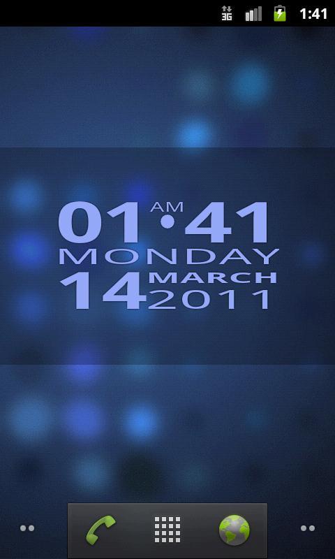 Big Clock Widget - screenshot