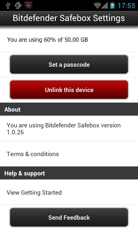 Bitdefender Safebox- screenshot