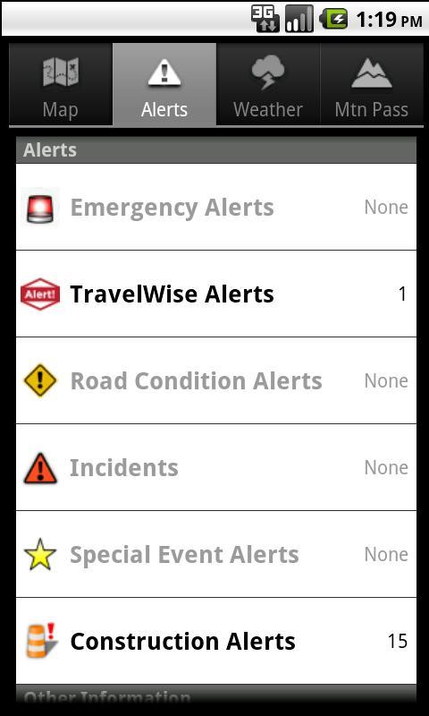 UDOT Traffic - screenshot