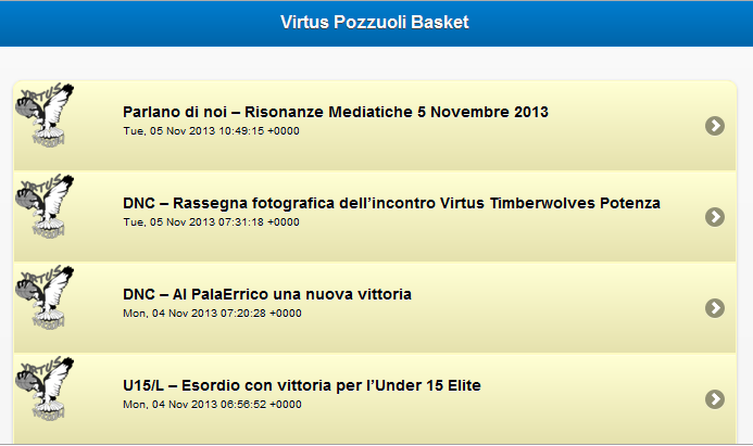 Virtus Pozzuoli Basket - screenshot