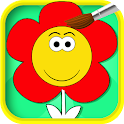 Color Me Flower For Toddlers icon
