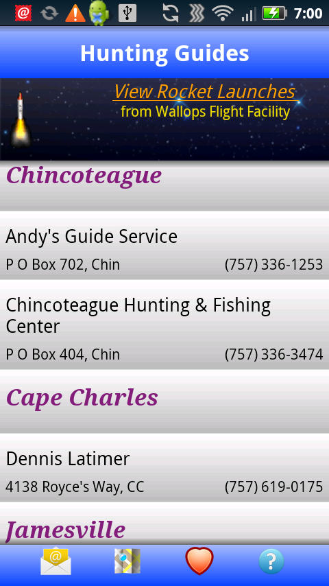 Chincoteague/ES Visitor Guide - screenshot