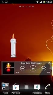 Candle battery widget- screenshot thumbnail