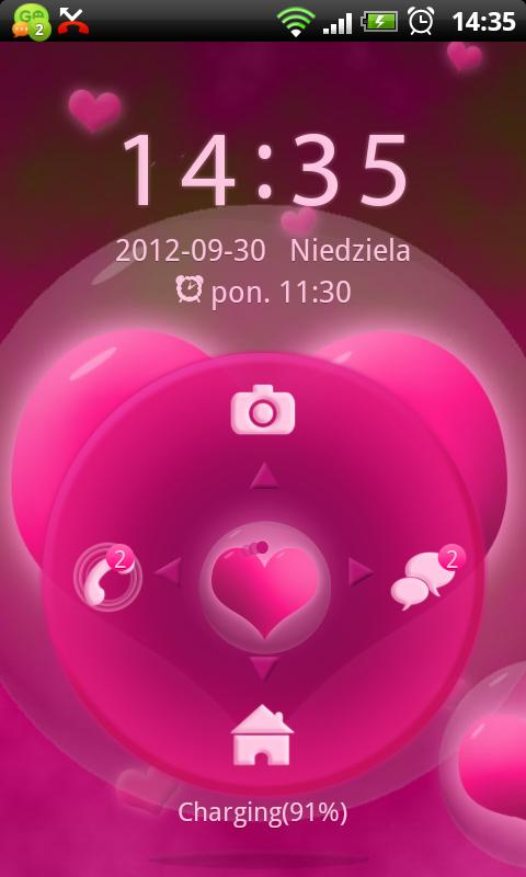 GO Locker Hearts Theme- screenshot