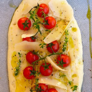 Cherry Tomato and Manchego Cheese Focaccia