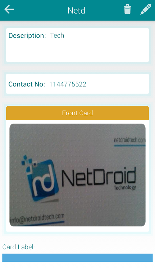 Business Card Holder vault Android Apps on Google Play