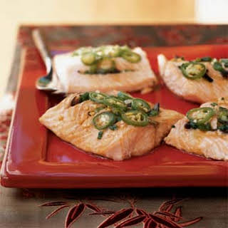 Steamed Salmon with Savory Black Bean Sauce.