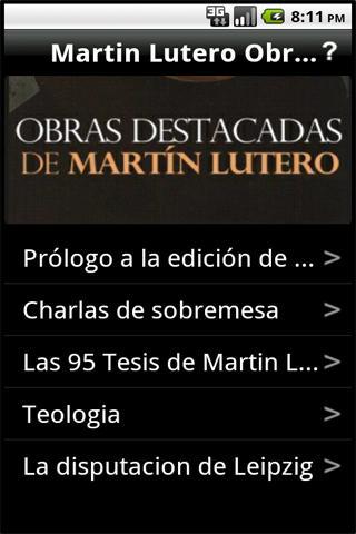 Martin Lutero Obras Destacadas: captura de pantalla