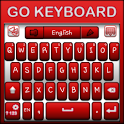 Go Keyboard Red and White icon
