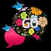 GO SMS THEME/SpringBird4U