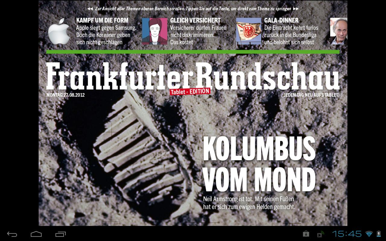 Frankfurter Rundschau HD - screenshot