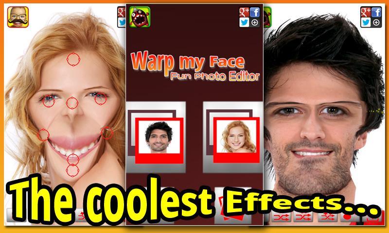 Warp My Face: Fun Photo Editor - screenshot
