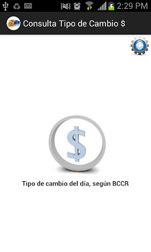 Tipo de cambio del día BCCR