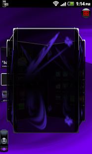 TSF Shell Theme Purple Wind HD- screenshot thumbnail