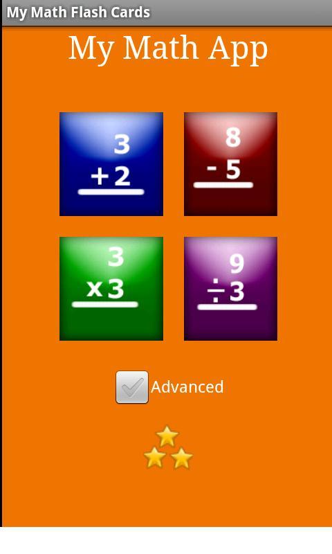 My Math Flash Cards App - screenshot