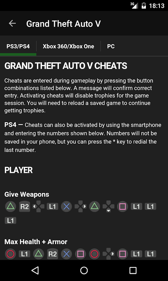 Cheats for GTA - screenshot