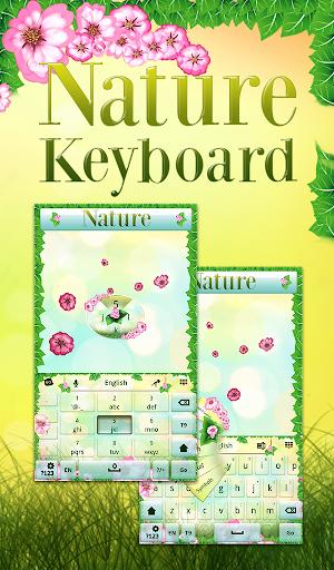 自然のキーボードのテーマ