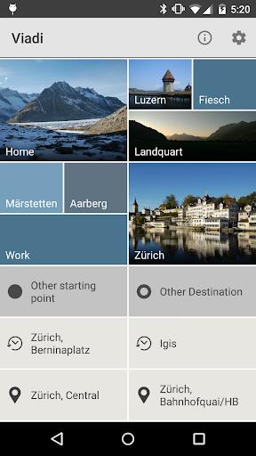 Viadi – timetable Switzerland