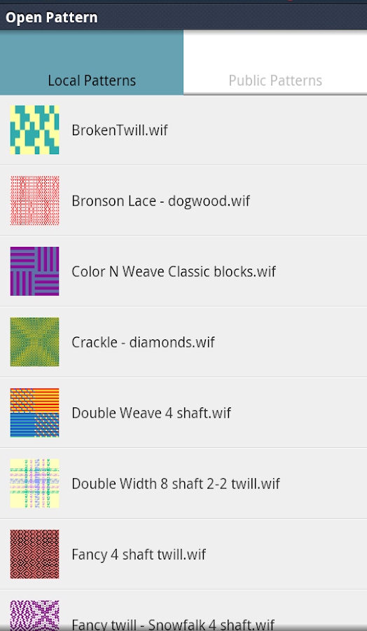 Weave with iWeaveIt- screenshot