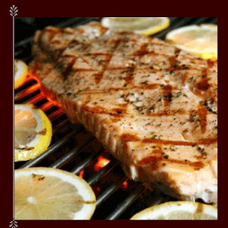 Wasabi Grilled Swordfish Steak.