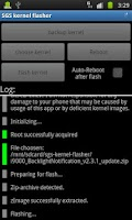 Screenshot of SGS kernel flasher