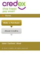 Screenshot of CredEx App