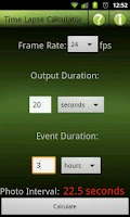 Screenshot of Time Lapse Calculator Lite