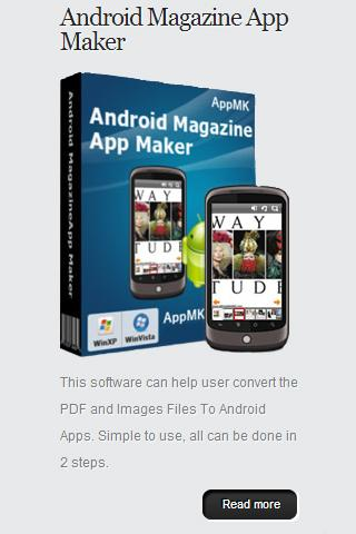 Android App Maker - screenshot