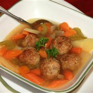 Chicken Meatball Soup.