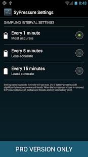 SyPressure Pro (Barometer)– уменьшенный скриншот