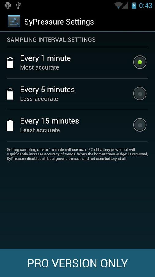 SyPressure Pro (Barometer)– скриншот