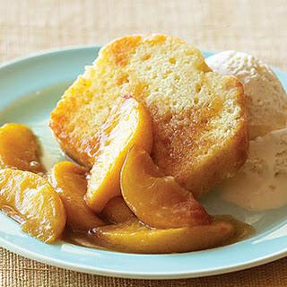 Sautéed Peaches over Pound Cake.