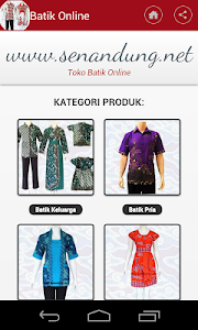 Baju Batik Online screenshot 1