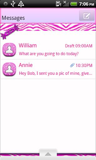 BubbleGumQT GO SMS THEME