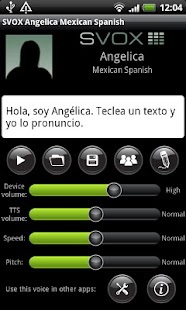 SVOX Mexican Angelica Voice- screenshot thumbnail