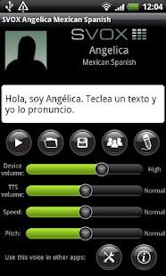 SVOX Mexican Angelica Voice - screenshot thumbnail