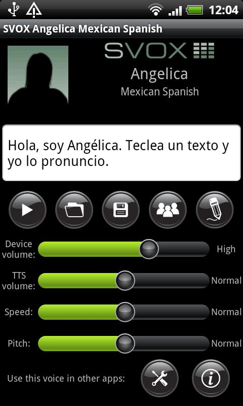 SVOX Mexican Angelica Voice - screenshot