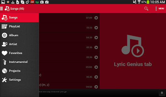 Lyric Genius Tab- screenshot thumbnail