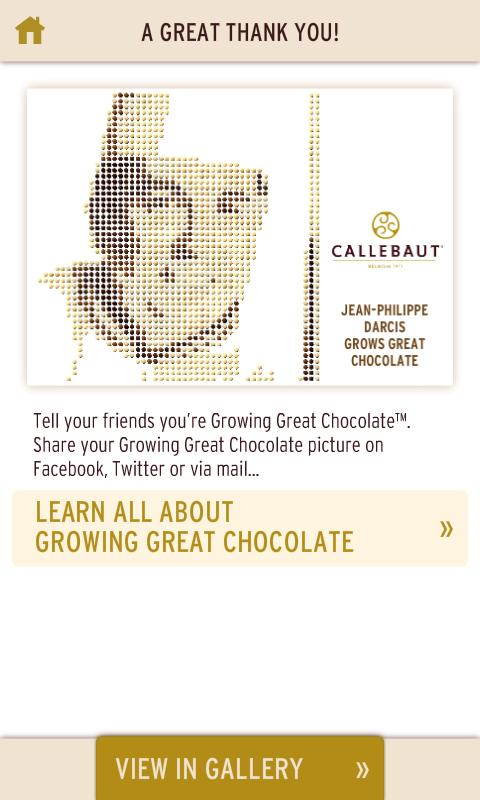 Callebaut - Calletizer™ - screenshot