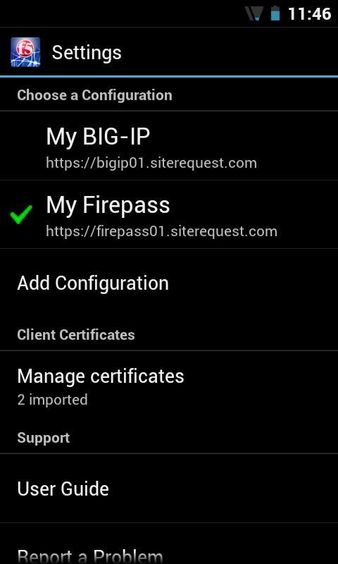F5 BIG-IP Edge Client - screenshot