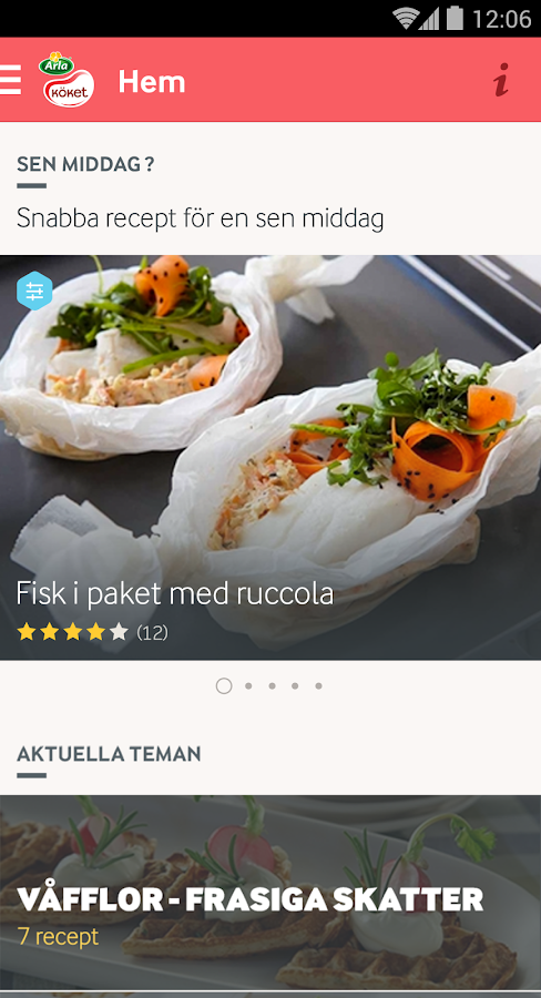 Arla Köket recept - screenshot
