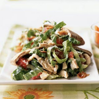 Smoky Bacon and Blue Cheese Chicken Salad Pitas