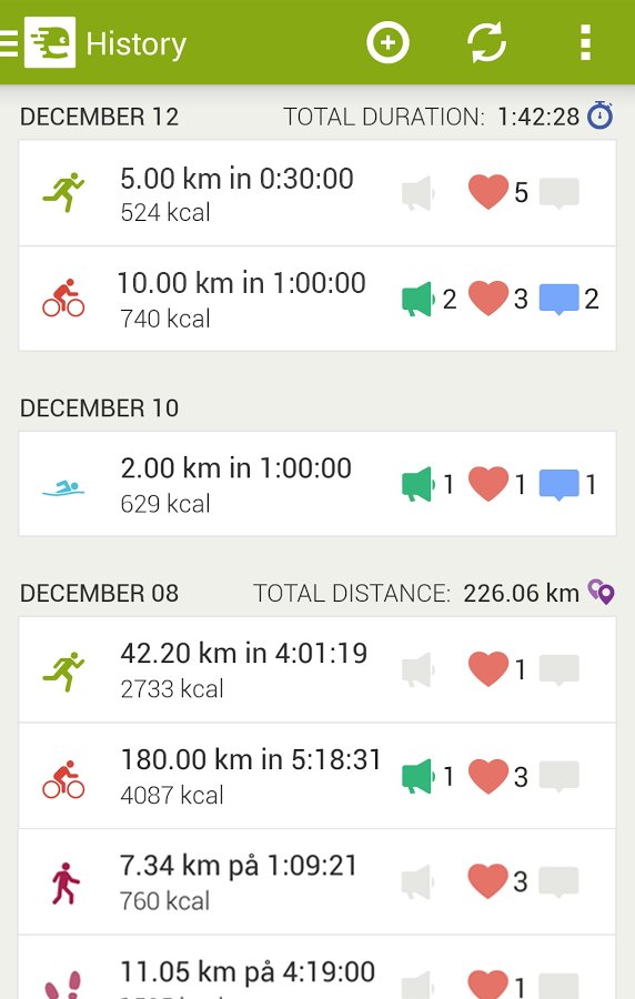 Endomondo Sports Tracker PRO - screenshot