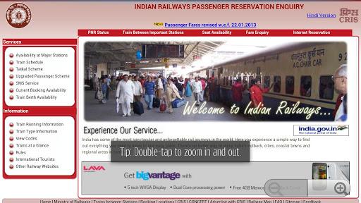 PNR STATUS in hindi