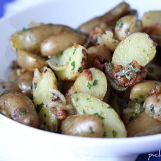 Bacon and Onion Pan Fried Potatoes