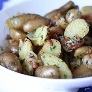 Bacon and Onion Pan Fried Potatoes.