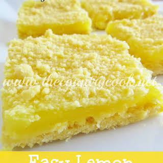 3-Ingredient Lemon Crumble Bars.