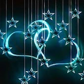 Neon Love Stars Live Wallpaper